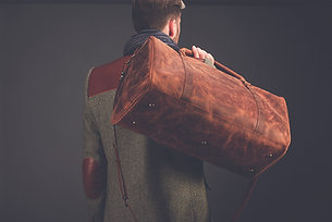 """Leather Travel Bag 22"""" / Leather Duffle Bag"""