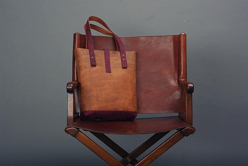 Leather Tote Bag / Women Handbag