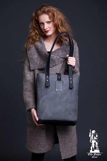 Leather Tote Bag / Women Handbag