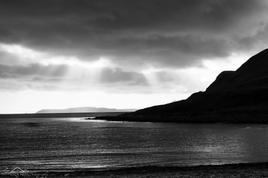 Sunrise in B&W, Scotland