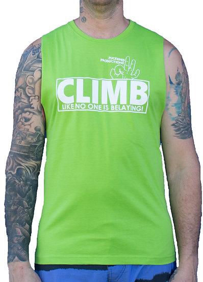 CLIMB MUSCLE TEE - LIME