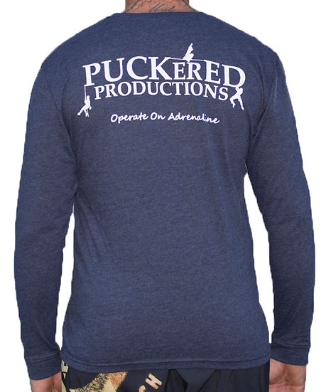 PUCKERED LONG SLEEVE - BLUE