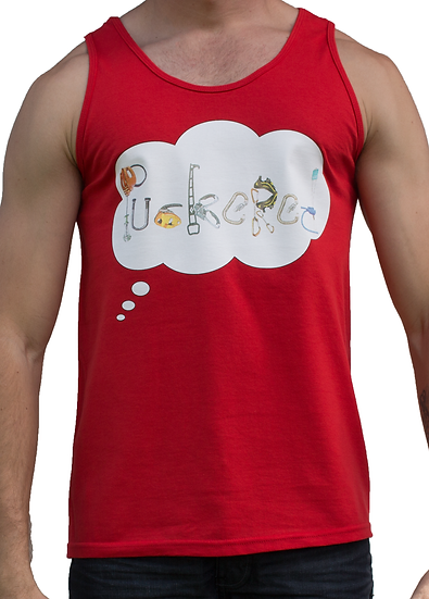 THINK PUCKERED SINGLET - RED