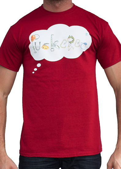 THINK PUCKERED TEE - MAROON