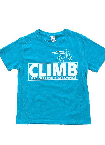 CLIMB TEE - TURQUOISE