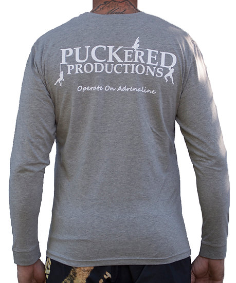 PUCKERED LONG SLEEVE - GREY