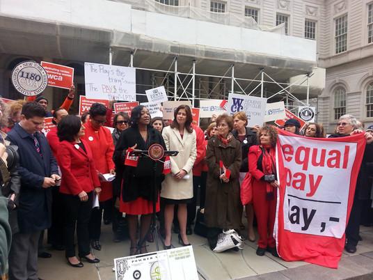 CM Mealy @ City Hall Equal Pay Rally