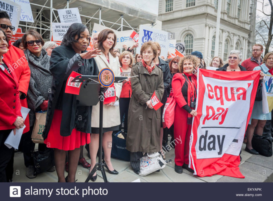 CM Mealy at City Hall Equal Pay Rally