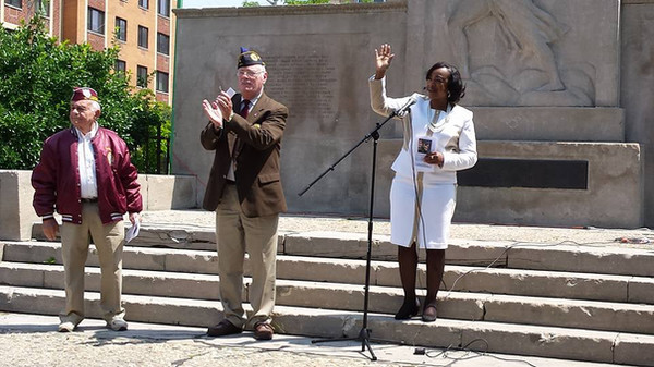 CM Mealy @ Brownsville Jewish War Veterans Memorial