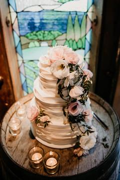 Large Ruffle Wedding Cake