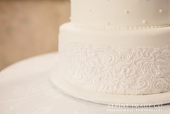 Lace and Dots Wedding Cake