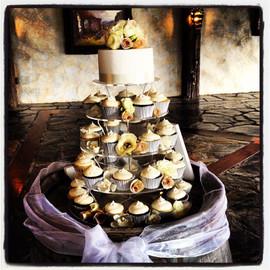 Cupcake Tower with Fresh Flowers.jpg