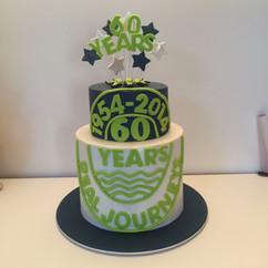 60 Years Celebration Cake