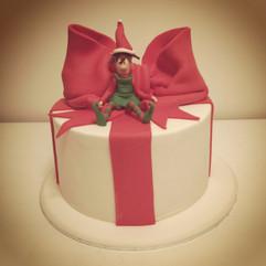 Present Box with Elf
