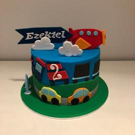 Cake, Train, Plane Cake