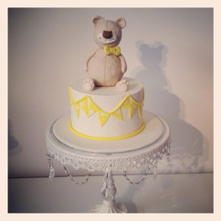 Teddy Bear and Bunting Cake