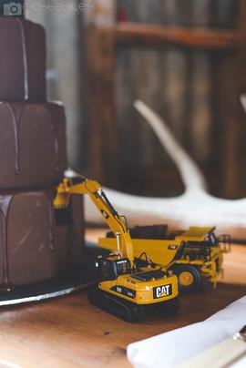 Digger Wedding Cake