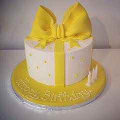 Present Box Birthday Cake