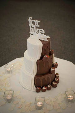 Half and half cake