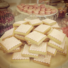 Pink Lace Cookies