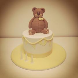 Teddy Bear with Buning Cake