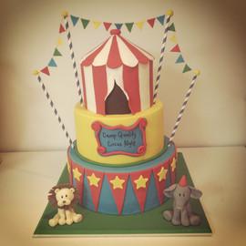 Three Tiered Circus Cake