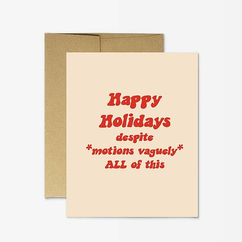 Motions Vaguely Card