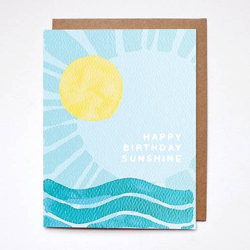 Happy Birthday Sunshine Card