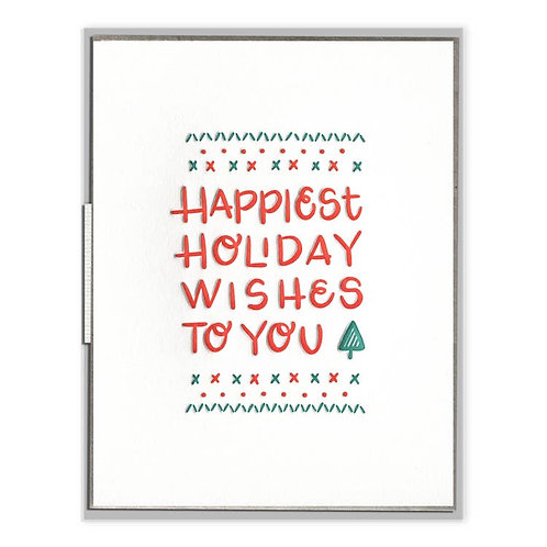 Happiest Holiday Wishes Card