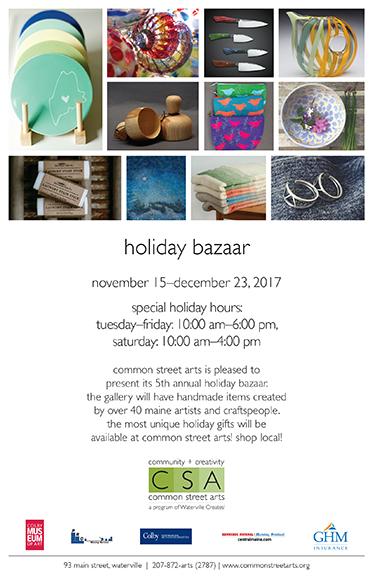 CSA Holiday Bazaar Poster
