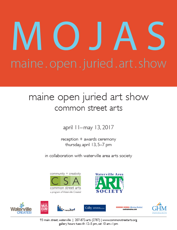Maine Open Juried Art Show Poster