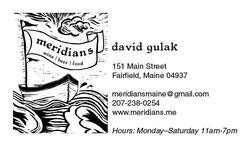 Meridians Business Card-David