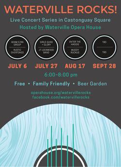 Waterville Rocks! Poster