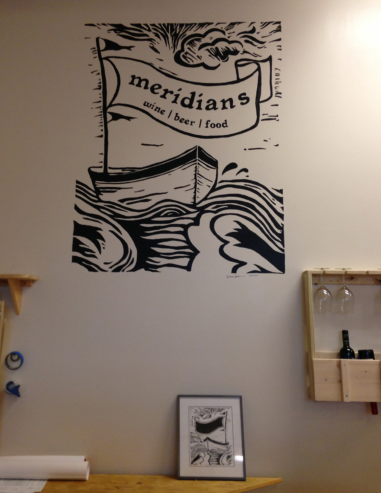 Meridians Signage in Store