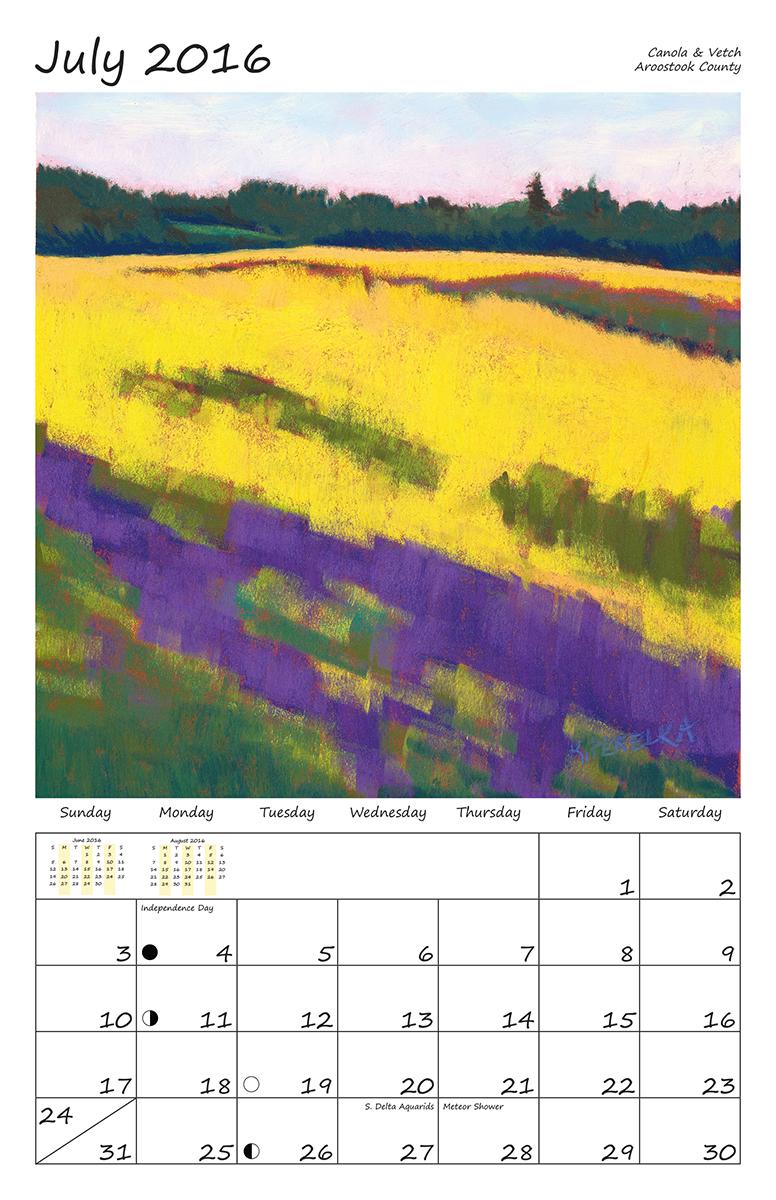 Perelka Calendar July 2016