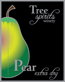 Pear extra dry label