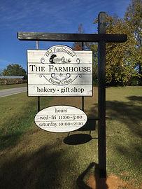 The Old-fashioned farmhouse bakery streetsign