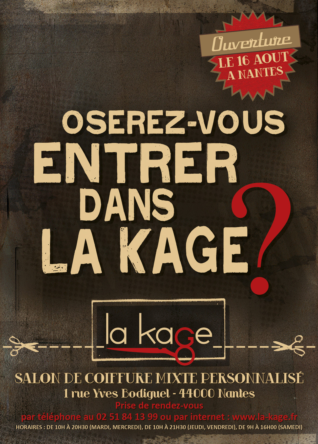Flyer La Kage