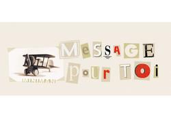 Textile : Message pour toi