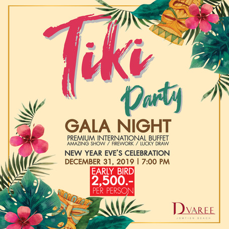 Tiki Party Gala Night Countdown 2020