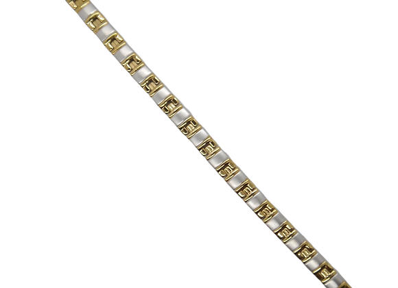 Ladies Stainless Steel Bracelets: Gold/Silver
