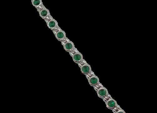 Ladies Titanium and Swarovski Crystal Bracelets: Silver