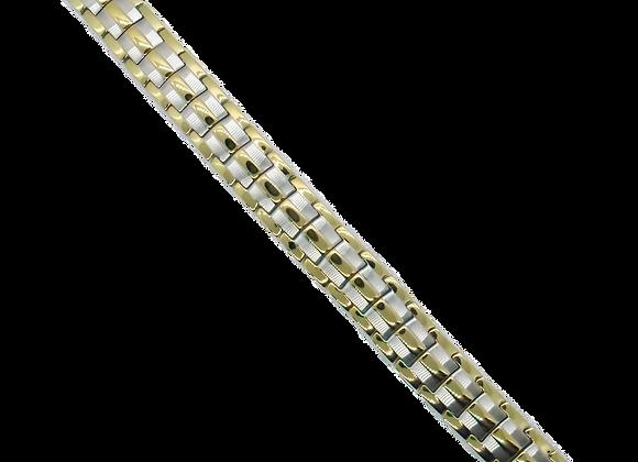 Men's Stainless Steel Bracelets: Gold/Silver