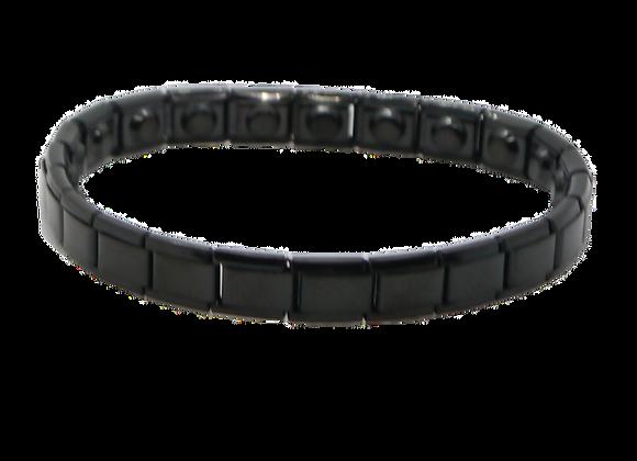 Ladies Stainless Steel Expanding Bracelets: Black