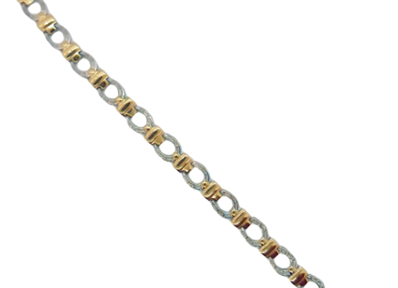 Ladies Titanium Bracelets: Gold/Silver