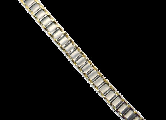 Men's Titanium Bracelets: Gold/Silver Bark