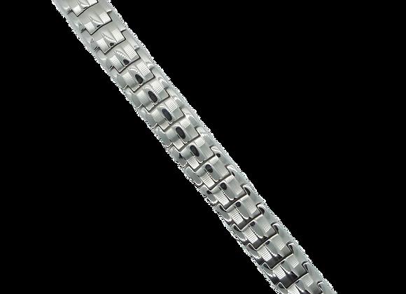 Men's Stainless Steel Bracelets: Silver