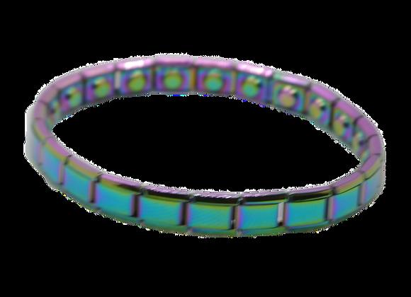 Ladies Stainless Steel Expanding Bracelets: Multicolour