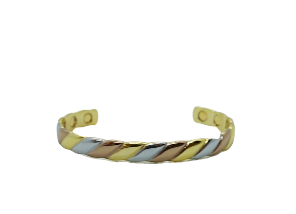 Ladies Bangles: Gold/Silver/Bronze Plated