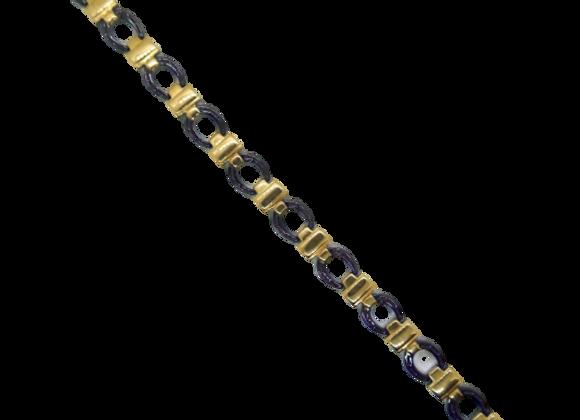 Ladies Stainless Steel Bracelets: Gold/Black